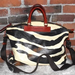 DOONEY & BOURKE Zebra Florentine Hobo Tote Bag!